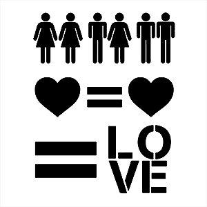 Adesivo - Love Is Love Lgbt Amor