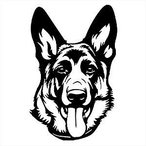 Adesivo - Cachorro Pastor Alemão Dog German Shepard Pets
