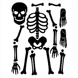 Adesivo - Esqueleto Desmontado Terror Cinema