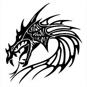 Adesivo - Cabeça De Dragão Dragon Head Desenho
