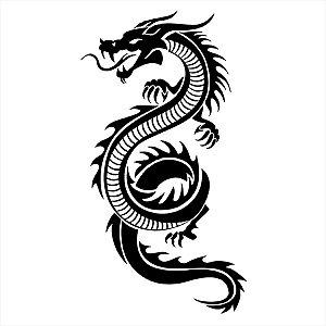 Adesivo - Dragão Chinês Chinese Dragon Detalhes Desenho