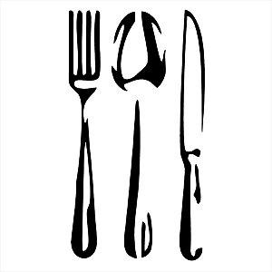 Adesivo - Talheres Garfo Colher Faca Fork Spoon Knife Cozinha