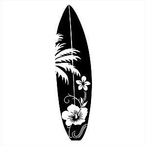 Adesivo - Prancha De Surf Com Flores Esporte