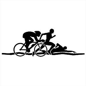 Adesivo - Ciclismo Corrida Natação Esportes Esporte