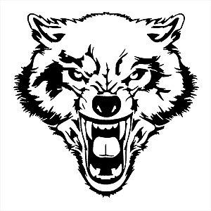 Adesivo - Logo Mostrando As Presas Wolf Natureza