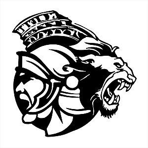 Adesivo - Gladiador E Leão Gladiator And Lion Outros