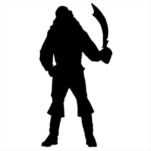 Adesivo - Pirata Com Espada Pirate With A Sword Pessoas