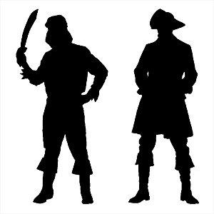 Adesivo - Piratas Com Espadas Pirates With Swords Pessoas