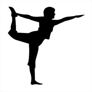 Adesivo - Bailarina Alongando Ballerina Stretching Dança