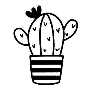 Adesivo - Cactus Cacto Envasado Natureza