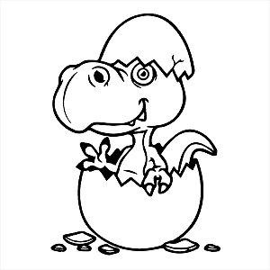 Adesivo - Dinossauro No Ovo Dinosaur Egg Desenho