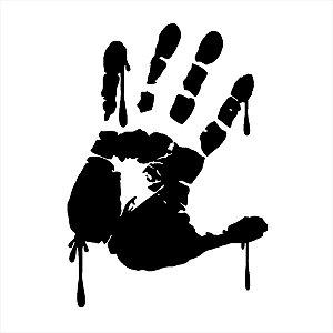 Adesivo - Marca De Mão Ensanguentada Handmark Terror Cinema