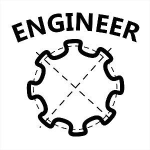 Adesivo - Enginner Engenheiro Profissões