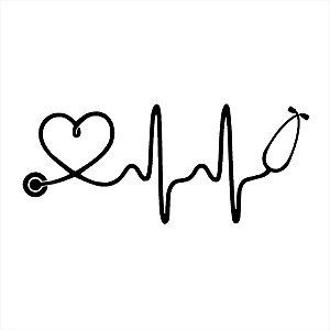Adesivo - Heartbeat Batimento Cardíaco Amor Love Desenho