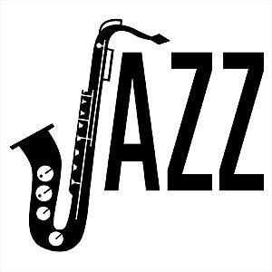 Adesivo - Jazz Saxofone Sax Música