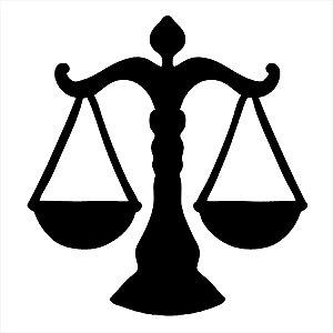 Adesivo - Advocacia Law Symbol Lawyer Advogado Profissões