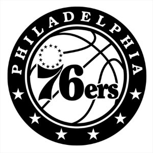 Adesivo - Philadelphia 76Ers Basketball Esporte