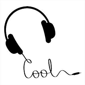 Adesivo - Cool Headphones Fones Música