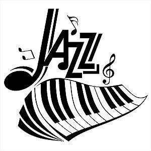 Adesivo - Jazz Music Keyboard Piano Música