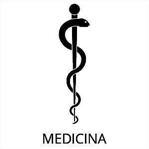 Adesivo - Bastão De Esculápio Asclépio Medicina Profissões