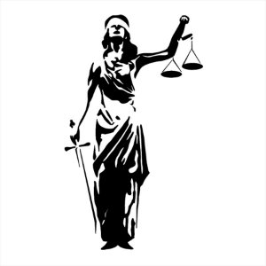 Adesivo - Justiça Justice Advocacia Law Profissões