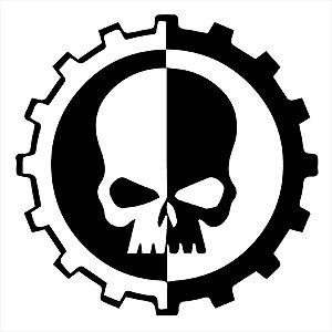 Adesivo - Engrenagem Caveira Crânio Gear Skull Terror Cinema