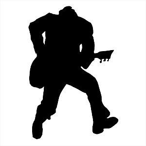 Adesivo - Guitar Player Tocador De Violão Músico Música
