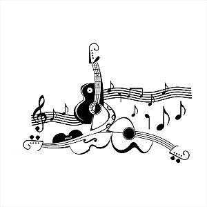 Adesivo - Guitars Music Instruments Instrumentos Música