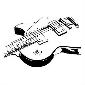 Adesivo - Electric Guitar Guitarra Elétrica Música