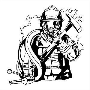 Adesivo - Bombeiro Firefighter Fireman Profissões