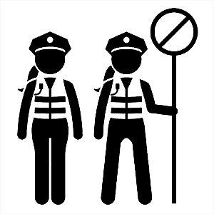 Adesivo - Traffic Police Women Female Officer Profissões
