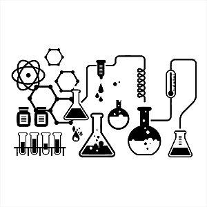 Adesivo - Chemistry Science Lab Química Ciências Ciência