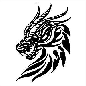 Adesivo - Dragon Head Cabeça De Dragão Desenho