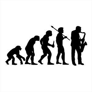Adesivo - Evolução Do Homem Músico Musician Música