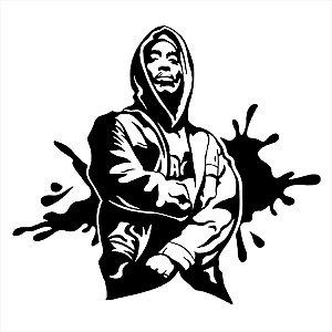 Adesivo - Hip Hop Rap Rapper Pessoas Música