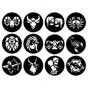 Adesivo - Doze Signos Do Zodíaco Signs