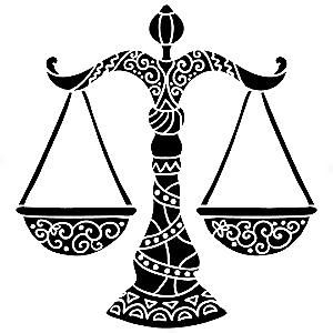 Adesivo - Libra Signos Do Zodíaco Signs