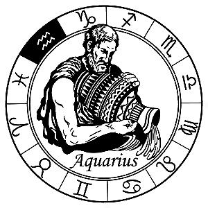 Adesivo - Aquário Aquarius Signos Do Zodíaco Signs
