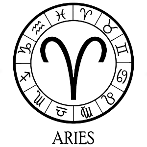 Adesivo - Áries Aries Signos Do Zodíaco Signs