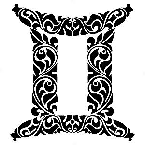 Adesivo - Gêmeos Gemini Signos Do Zodíaco Signs