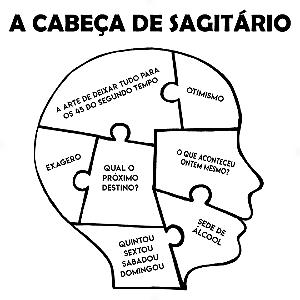 Adesivo - A cabeça de Sagitário Sagittarius Signos Do Zodíaco Signs