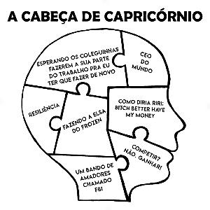 Adesivo - A cabeça de Capricórnio Capricorn Signos Do Zodíaco Signs