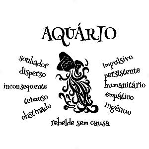 Adesivo - Aquário Aquarium Signos Do Zodíaco Signs Personalidade