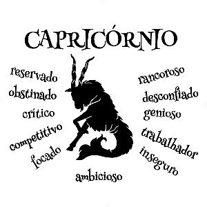 Adesivo - Capricórnio Capricorn Signos Do Zodíaco Signs Personalidade