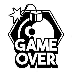 Adesivo - Game Over Fim de Jogo Bomb Bomba