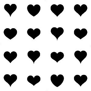 Adesivo - Cartela Coração Corações Heart Hearts