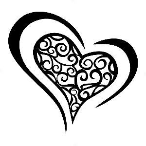 Adesivo - Coração Heart Desenh