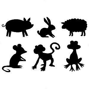 Adesivo - Cartela Animals Animais