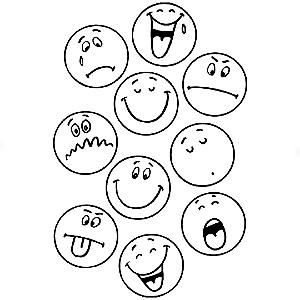 Adesivo - Cartela Emojis Smiles