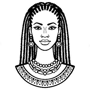 Adesivo - Mulher Woman Beauty Beleza Tranças